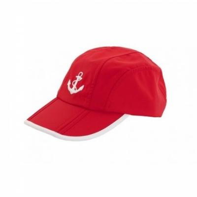 кепка якорь красная