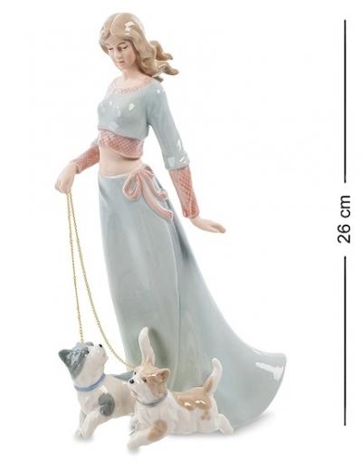 статуэтка дама с собаками (pavone)