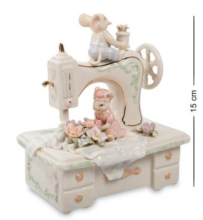 музыкальная фигурка швейная машина (pavone)
