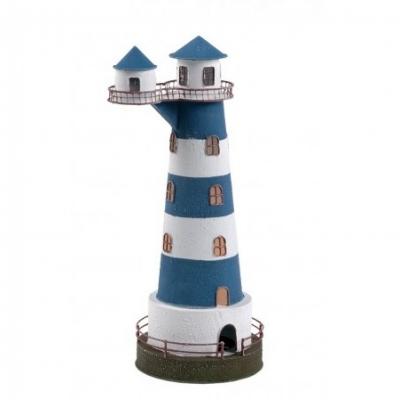 маяк-светильник синий/белый 36см