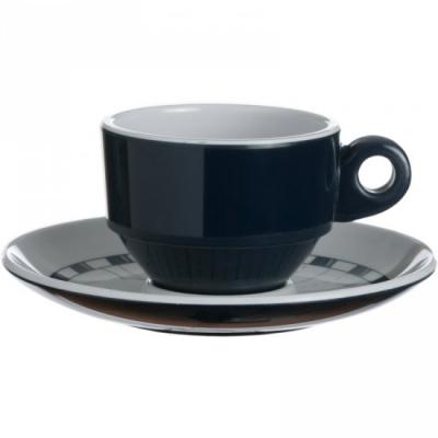 чашка для эспрессо с блюдцем columbus, набор 6 шт