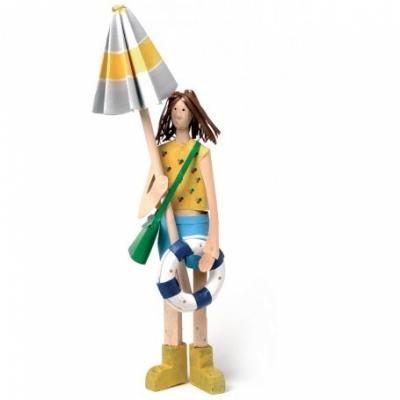 девушка-пляжница 36см