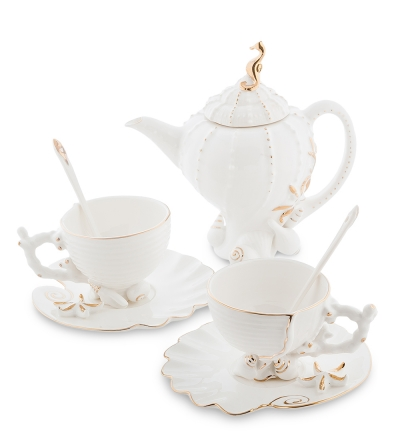 чайный набор морская ракушка на 2 персоны (pavone)