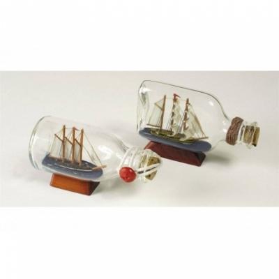 трехмачтовый корабль в бутылке 3,5см