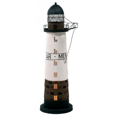 маяк-светильник коричневый/белый/черный 51см