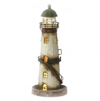 маяк-светильник бежевый/коричневый 35см