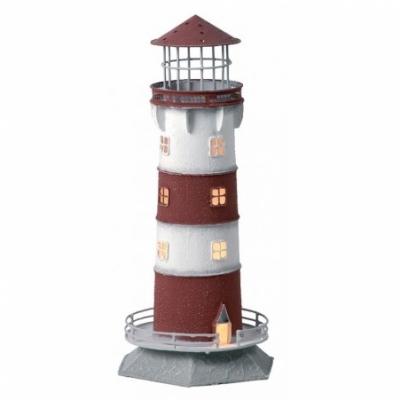 маяк-светильник бордо/белый 32см