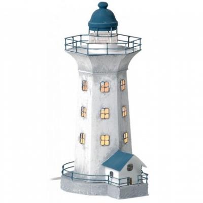 маяк-светильник серый/голубой 43см