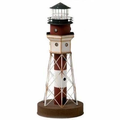 маяк-светильник белый/коричневый 40см