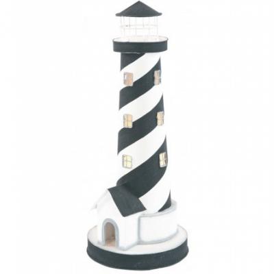 маяк-светильник черный/белый 40см