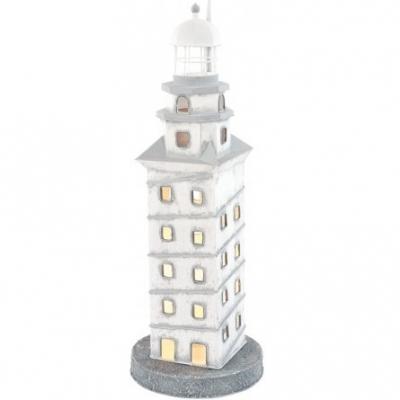маяк-светильник белый/серый 43см