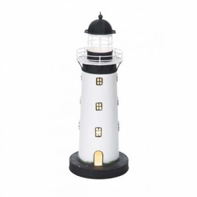 маяк-светильник белый/черный 43см