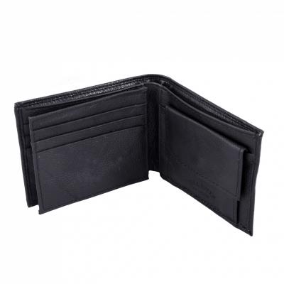 портмоне черное кожаное 9*11см