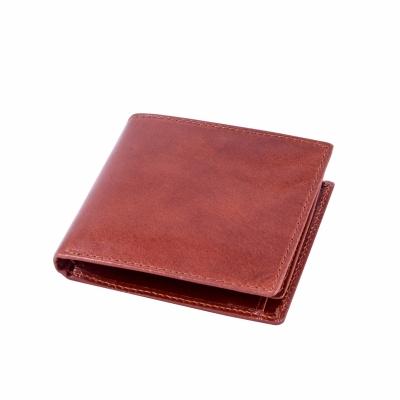 портмоне коричневое кожаное глянец 9*11см