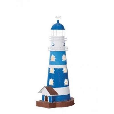 маяк-светильник синий/белый 47см