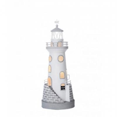 маяк-светильник белый/серый 45см