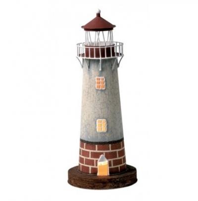 маяк-светильник серый/коричневый 42см