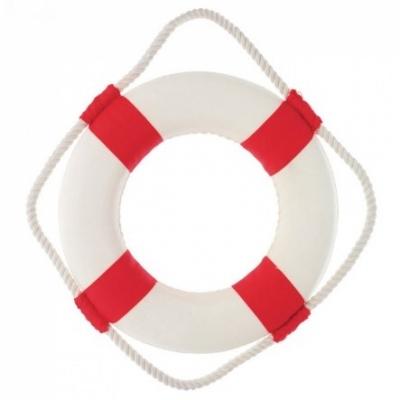 спасательный круг красный 20см
