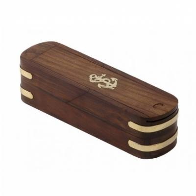 пенал якорь деревянный