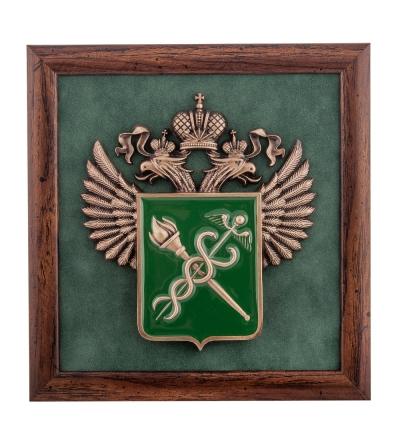 """панно """"герб федеральной таможенной службы"""""""