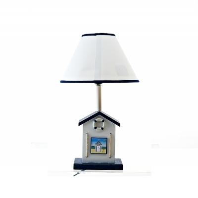 лампа настольная пляжный домик синий