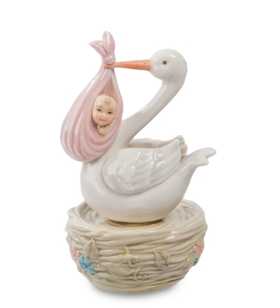 музыкальная фигурка с новорожденной (pavone)