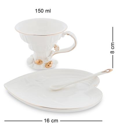 чайная пара сердце морская ракушка (pavone)