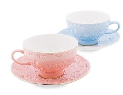 чайный набор белла мария на 2 персоны роз/гол (pavone)