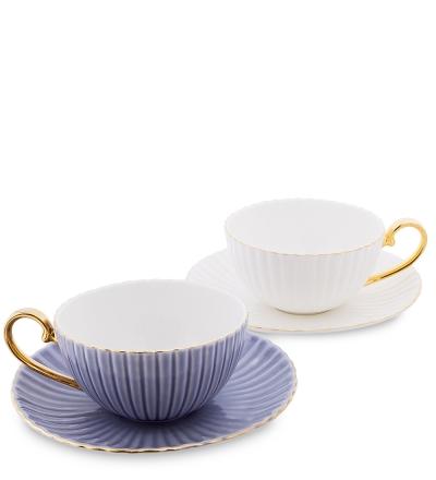 чайный набор тоскана на 2 персоны син/бел (pavone)