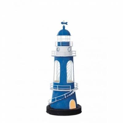 маяк-светильник синий/белый/черный 45см