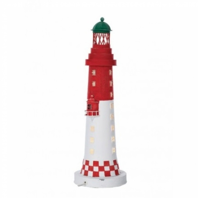 маяк-светильник красный/белый 50см