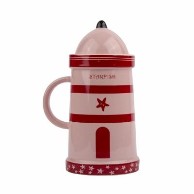 чашка маяк красная