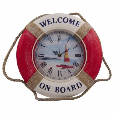 часы-спасательный круг 40см красные