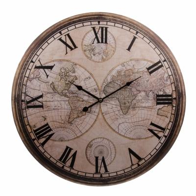 часы настенные старая карта мира 60см