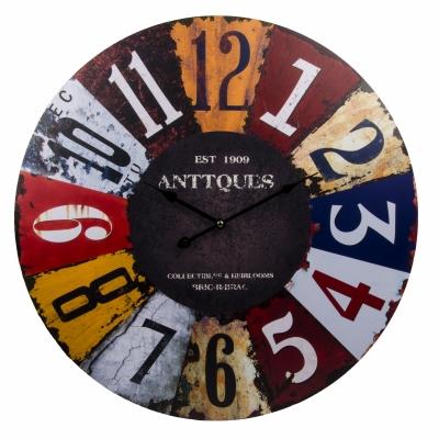 часы настенные цветные цифры 60см