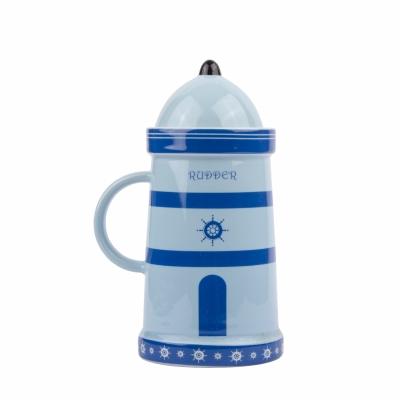 чашка маяк синяя