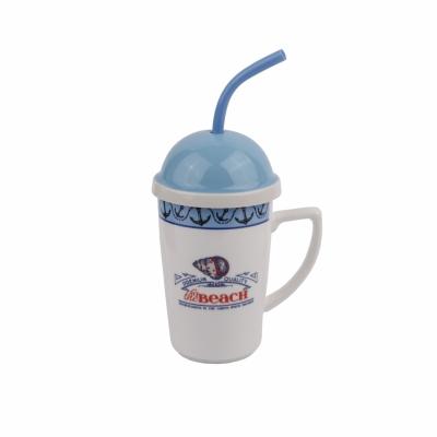 чашка с крышкой ракушка