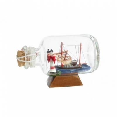 корабль в бутылке 6,5см