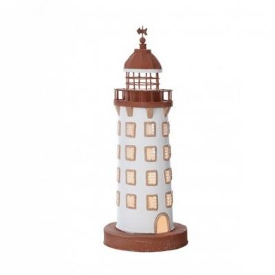 маяк-светильник белый/коричневый 41см