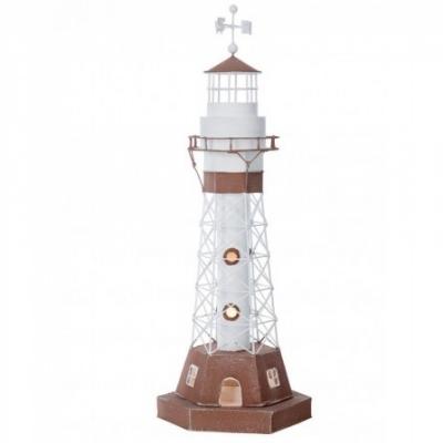 маяк-светильник белый/коричневый 51см