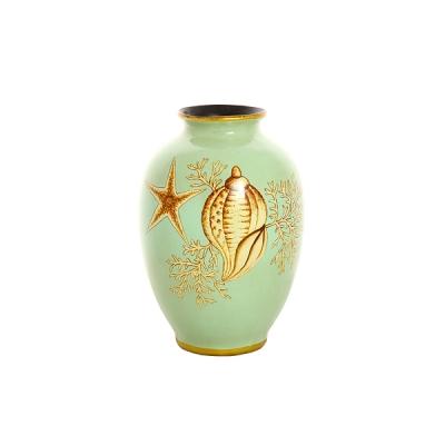 ваза морская ракушка из глины