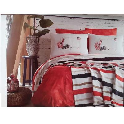 КПБ Kirmizi 2спальный с двумя пледами
