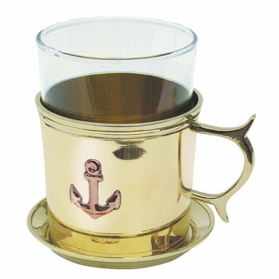 Подстаканник для чая со стаканом Якорь