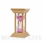 Часы песочные розовые 5мин