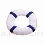 подушка спасательный круг синий 30см
