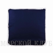 подушка якорь синяя 40*40см