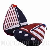 подушка кораблик красный флаг