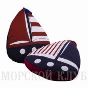 подушка кораблик синий флаг