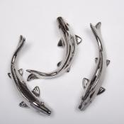 Керамическая рыбка настенная золотая 25см
