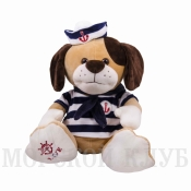 Собака моряк 32см синяя тельняшка